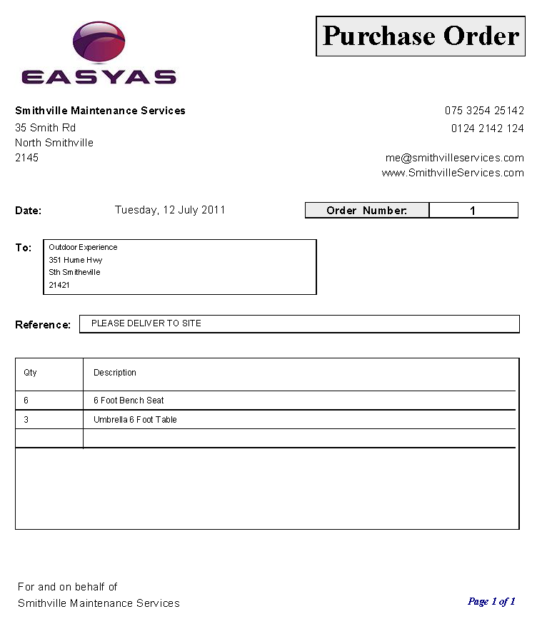 Purchase Order Template  Free Printables